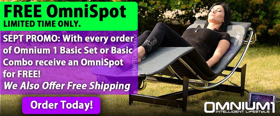 PEMF Canada - September 2017 Promotion: Free OmniSpot with Omnium1
